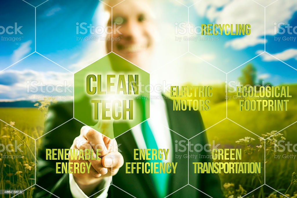 Clean technology business concept stock photo