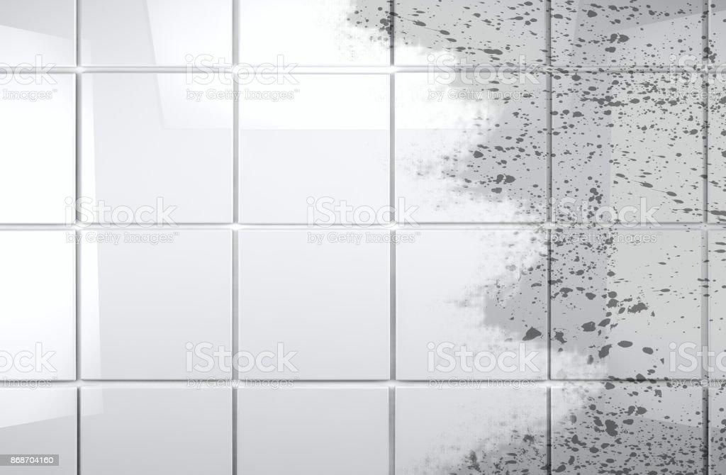 Limpia Azulejos Pared Baño Fondo - Fotografía de stock y más ...