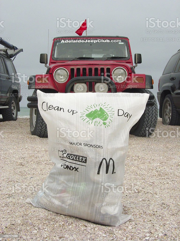 Clean Up Australia Day, Coorong 4x4 clubs involved in S.A. stock photo