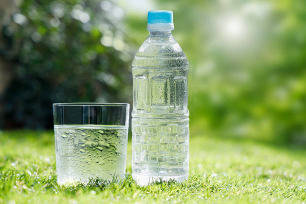 Clean, well-chilled and delicious water stock photo