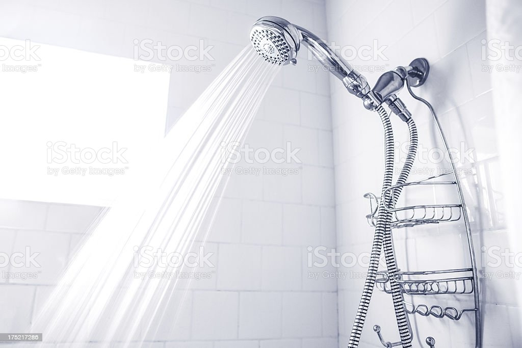Clean White Shower royalty-free stock photo
