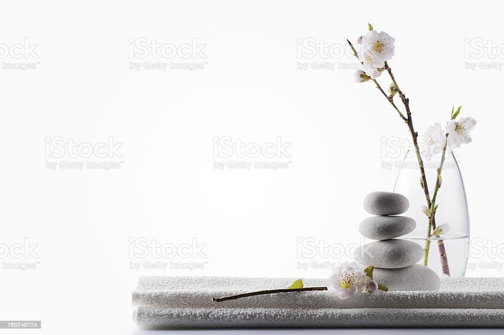 Clean White Spa Background stock photo