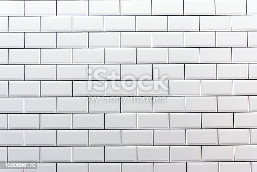 Background from a clean white tiled wall