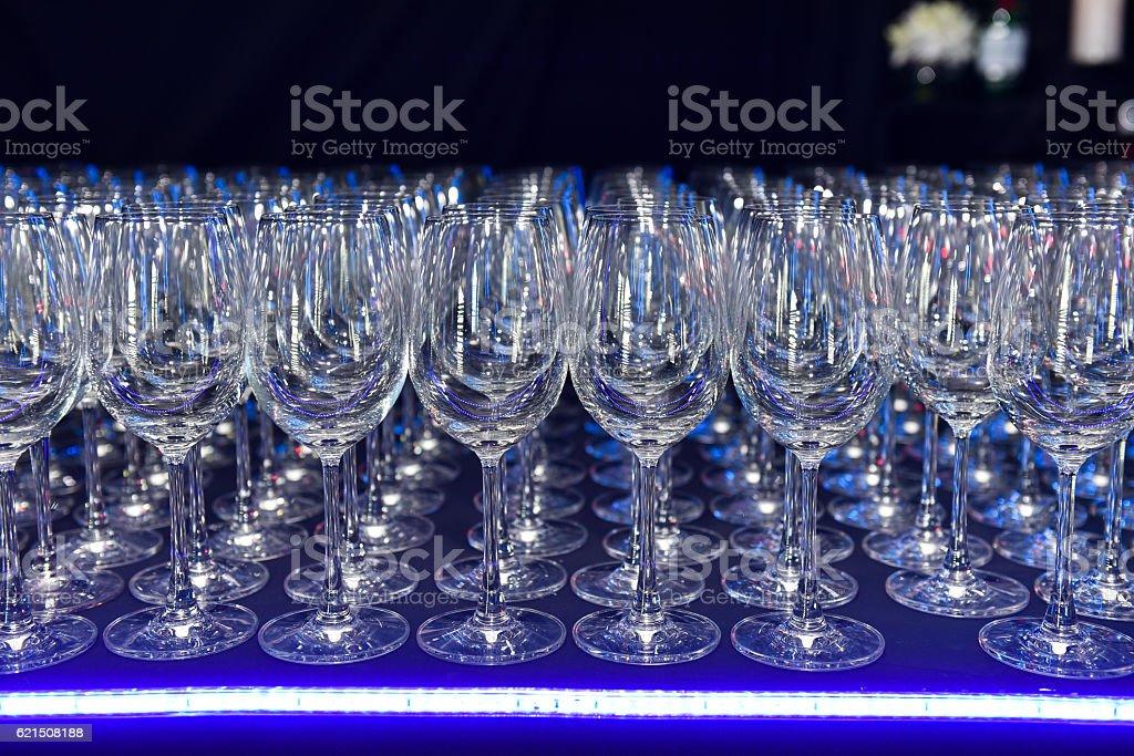 clean wine glasses photo libre de droits