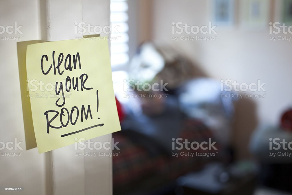 Clean Your Room! stock photo
