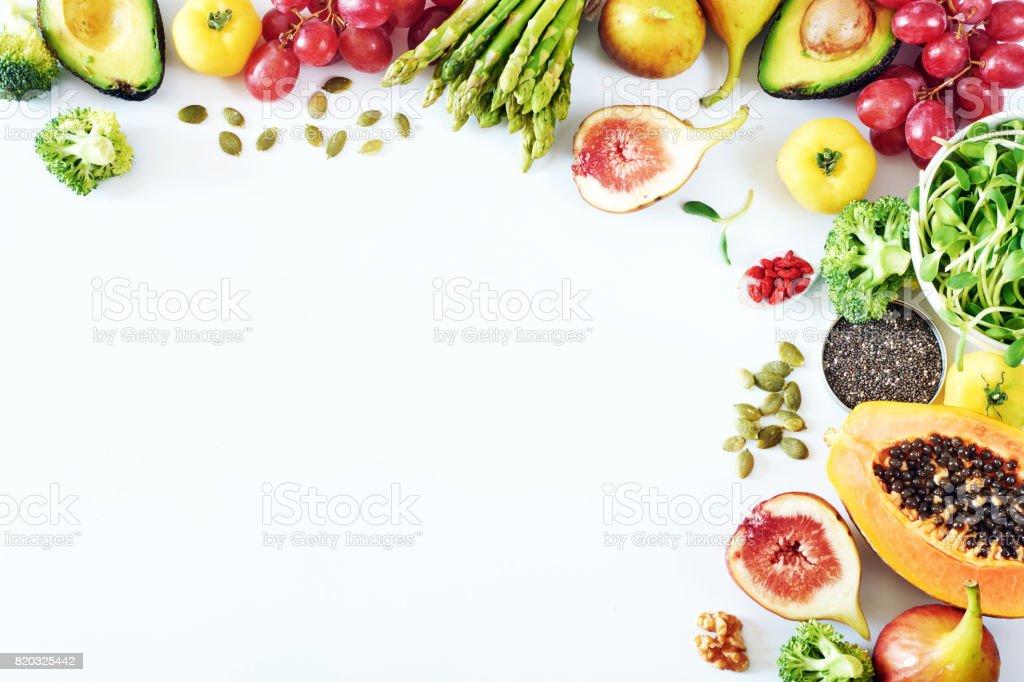 Sauber-Essen Essen Rahmen mit Textfreiraum. – Foto