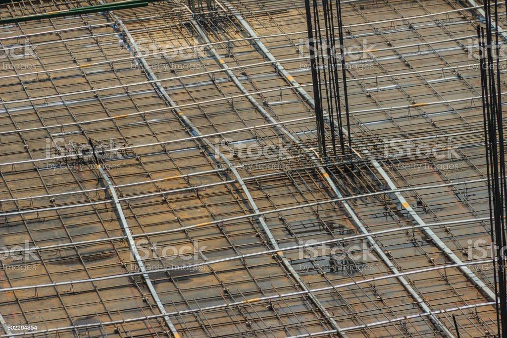 Gereinigten Boden Platte Verstarkung Bar Mit Post Spannung Kabel
