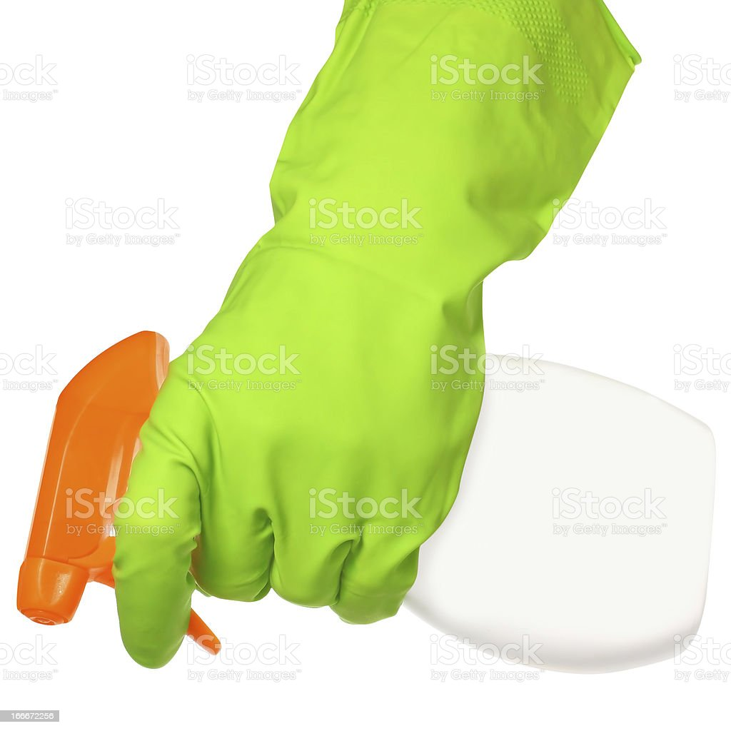 Cleaner in a hand royalty-free stock photo