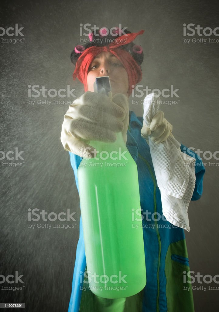Cleaner maid working stock photo