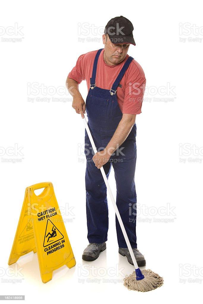 Reinigungskraft Mopping – Foto
