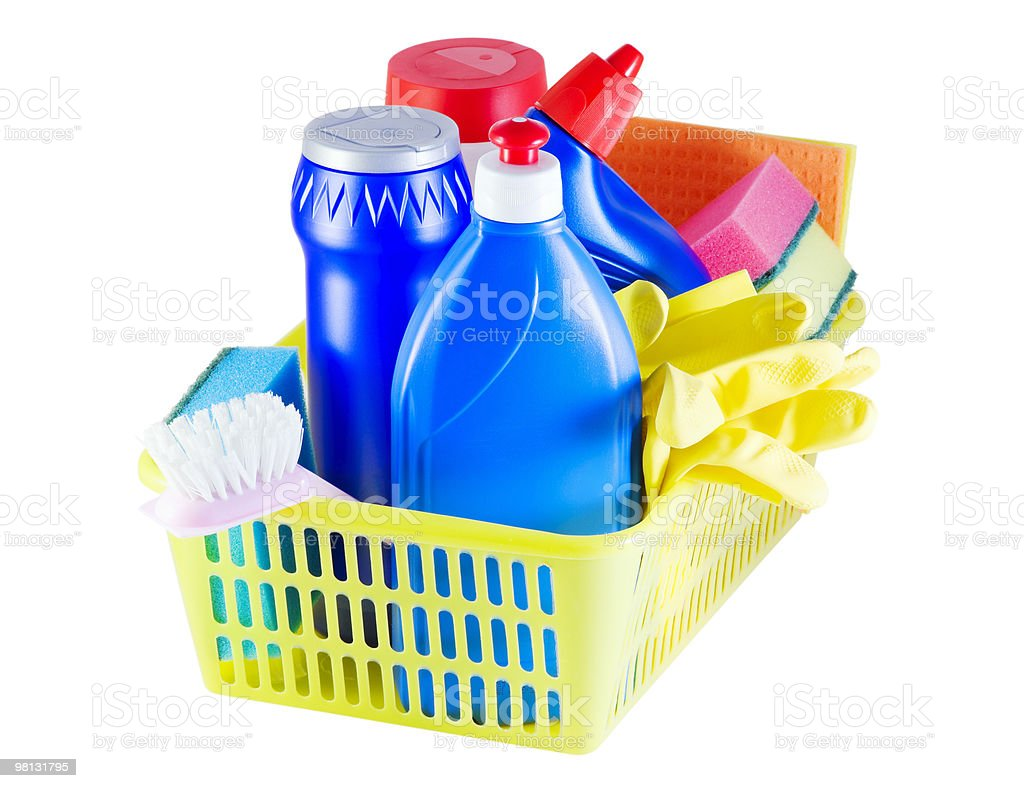 cleaners in the basket royalty-free stock photo