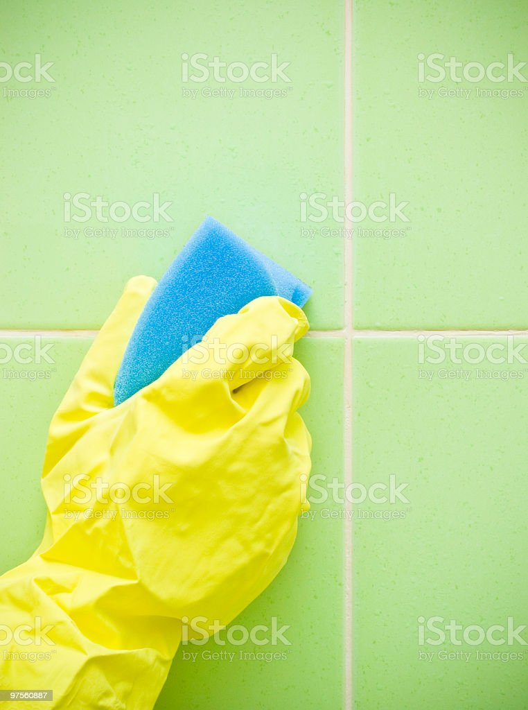 Cleaning bathrooms royalty-free stock photo