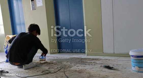 473158422 istock photo Cleaning before paving 1198048924