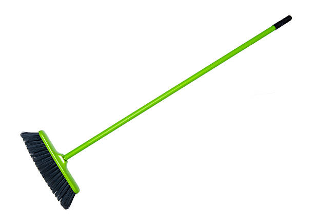 Cleaning broom stock photo
