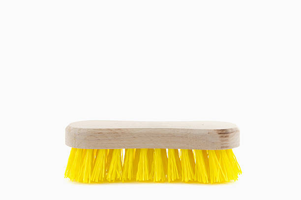 cleaning brush single  yellow cleaning brush scrubbing brush stock pictures, royalty-free photos & images