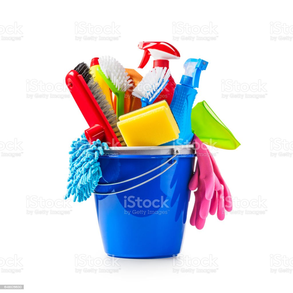 Cleaning bucket stock photo
