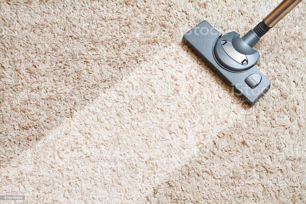 Limpieza de alfombra - foto de stock