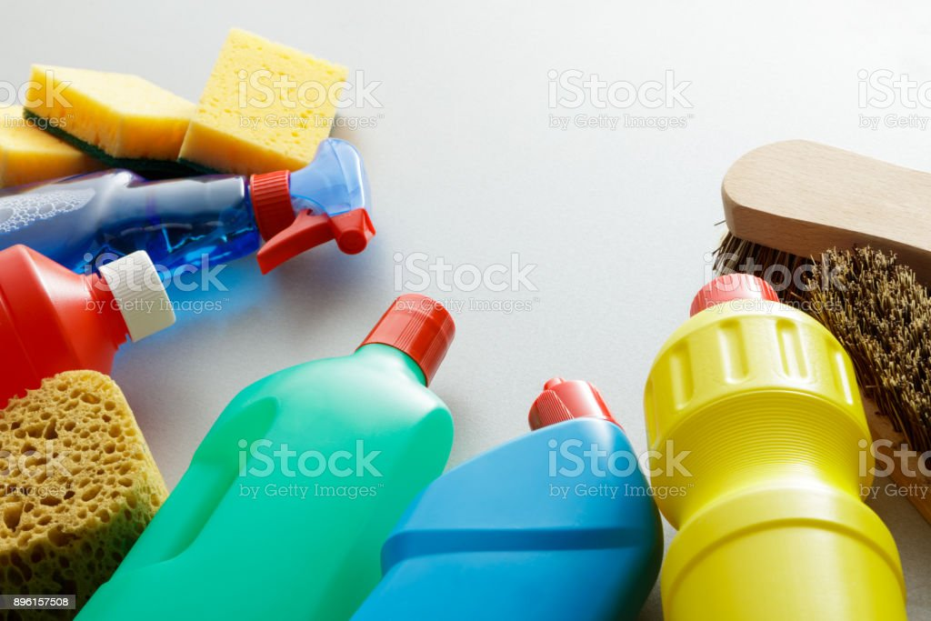 Cleaning: Cleaning Products Still Life stock photo