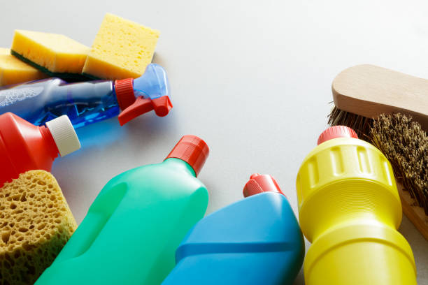 cleaning: cleaning products still life - bleach stock pictures, royalty-free photos & images