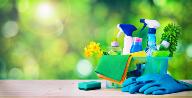 cleaning concept. housecleaning, hygiene, spring, chores, cleaning supplies - lysol stock pictures, royalty-free photos & images