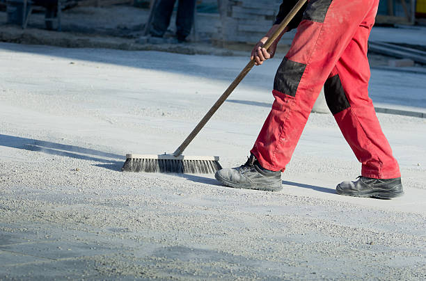 cleaning construction site - sweeping stock pictures, royalty-free photos & images