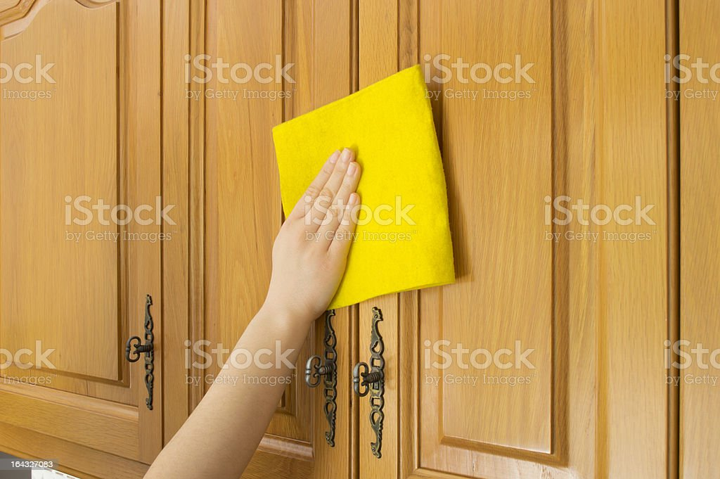 cleaning cupboards royalty-free stock photo