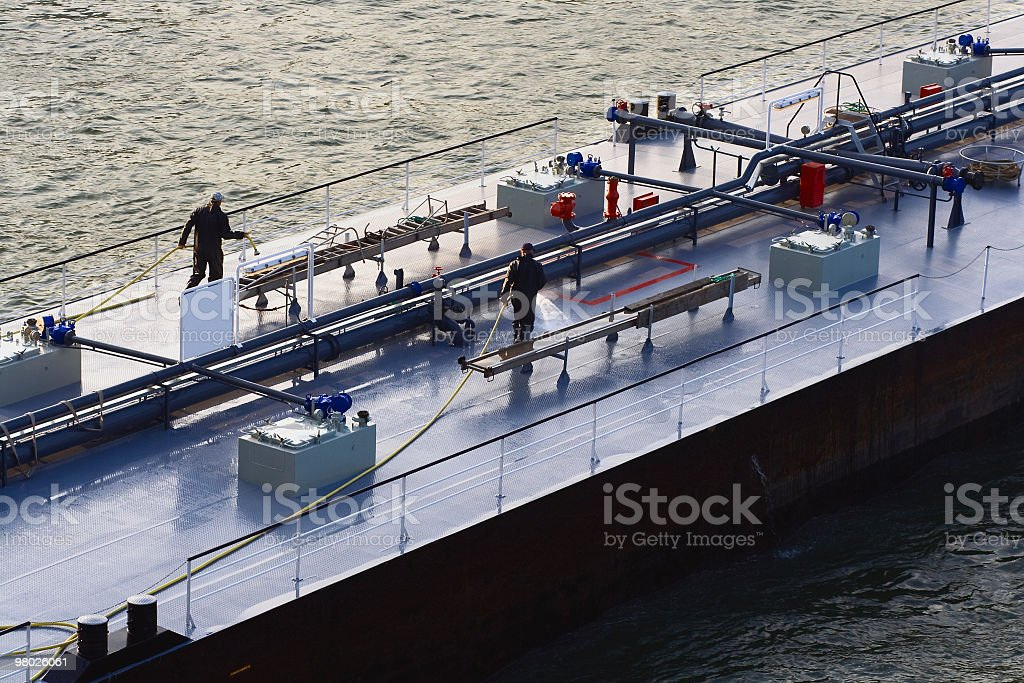 Cleaning deck royalty-free stock photo