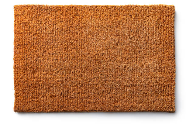 Cleaning: Doormat Isolated on White Background stock photo