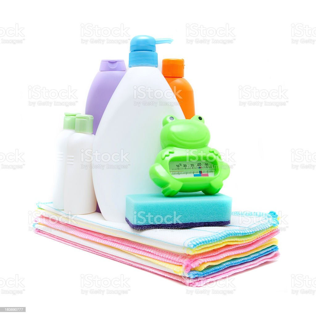 Cleaning equipment isolated on white background royalty-free stock photo