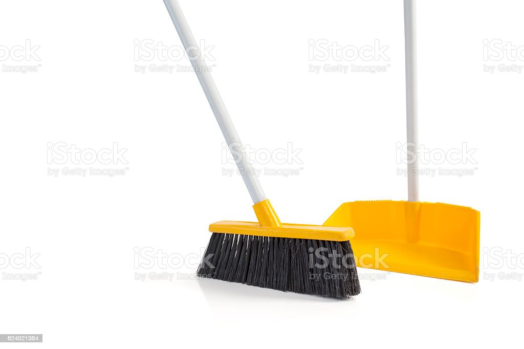 Cleaning equipment on isolated background – Foto