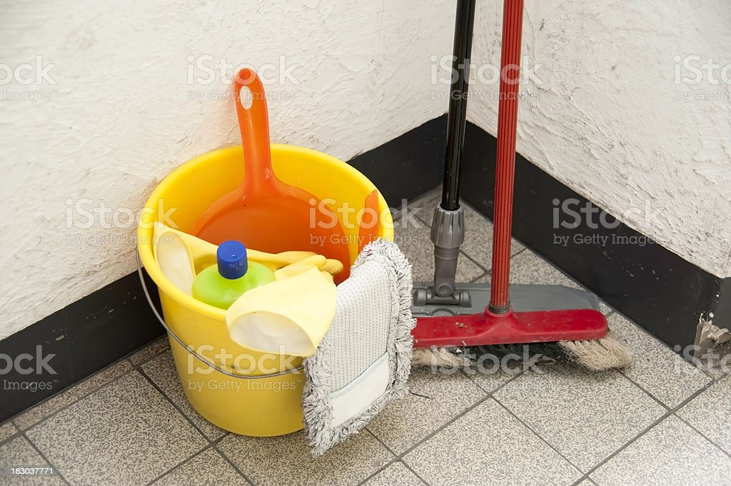 cleaning equipment - Putzzeug royalty-free stock photo