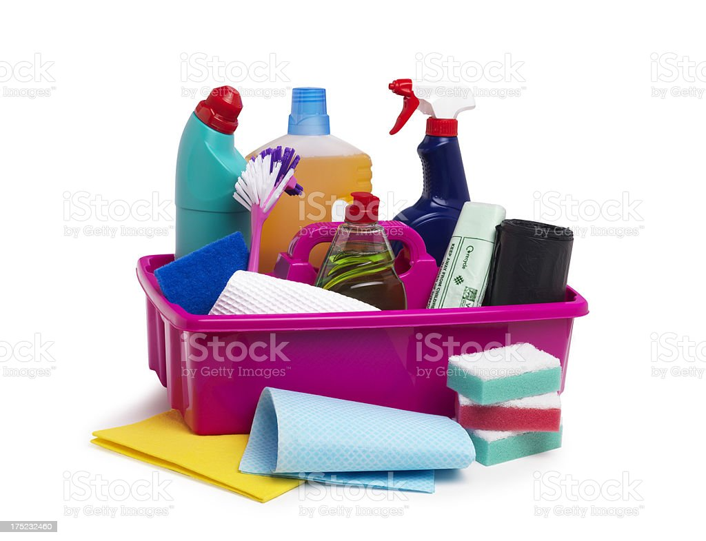 Cleaning Equipment with clipping path royalty-free stock photo