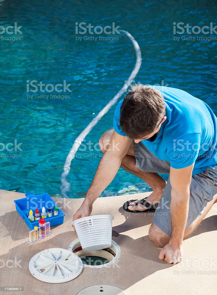 Cleaning filter basket royalty-free stock photo