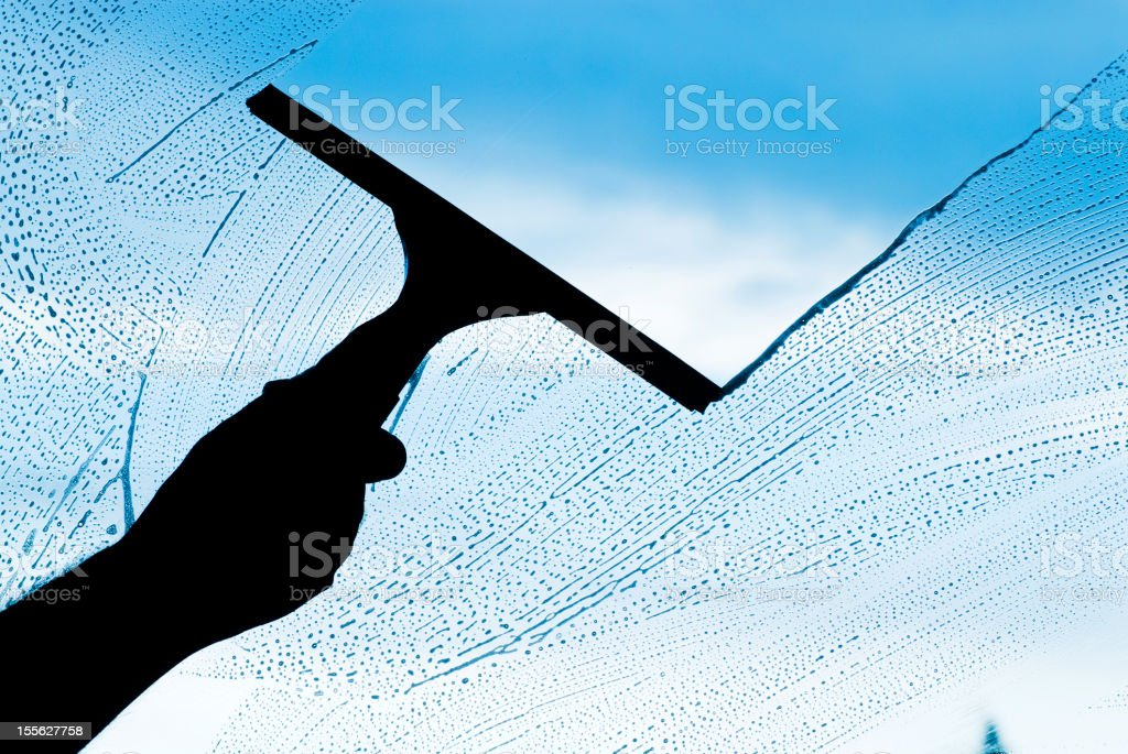 Cleaning Glass royalty-free stock photo