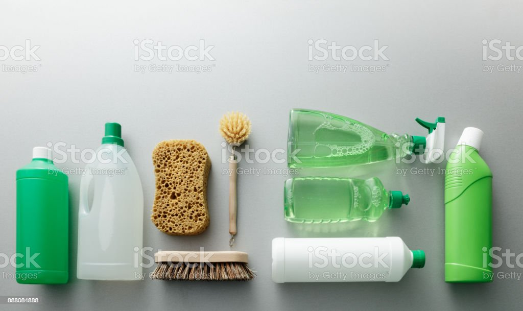 Cleaning: Green Cleaning Products Still Life stock photo