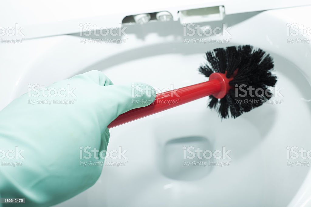 Cleaning intelligence toilet stock photo