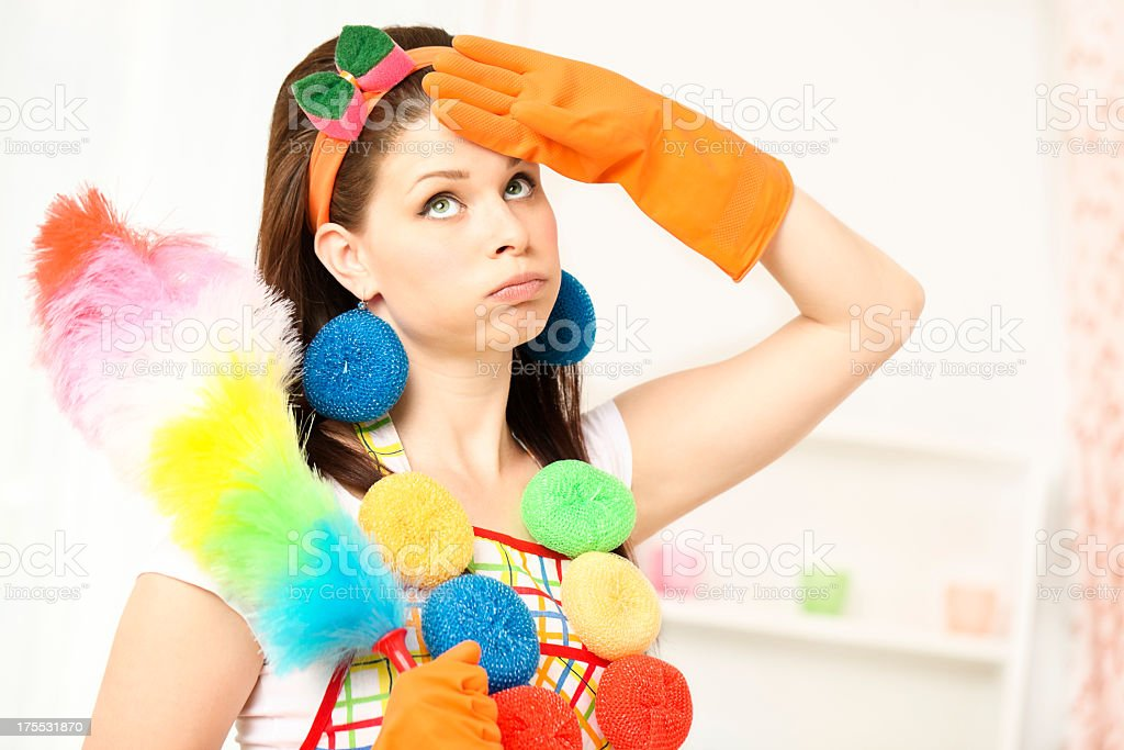 Cleaning is hard royalty-free stock photo