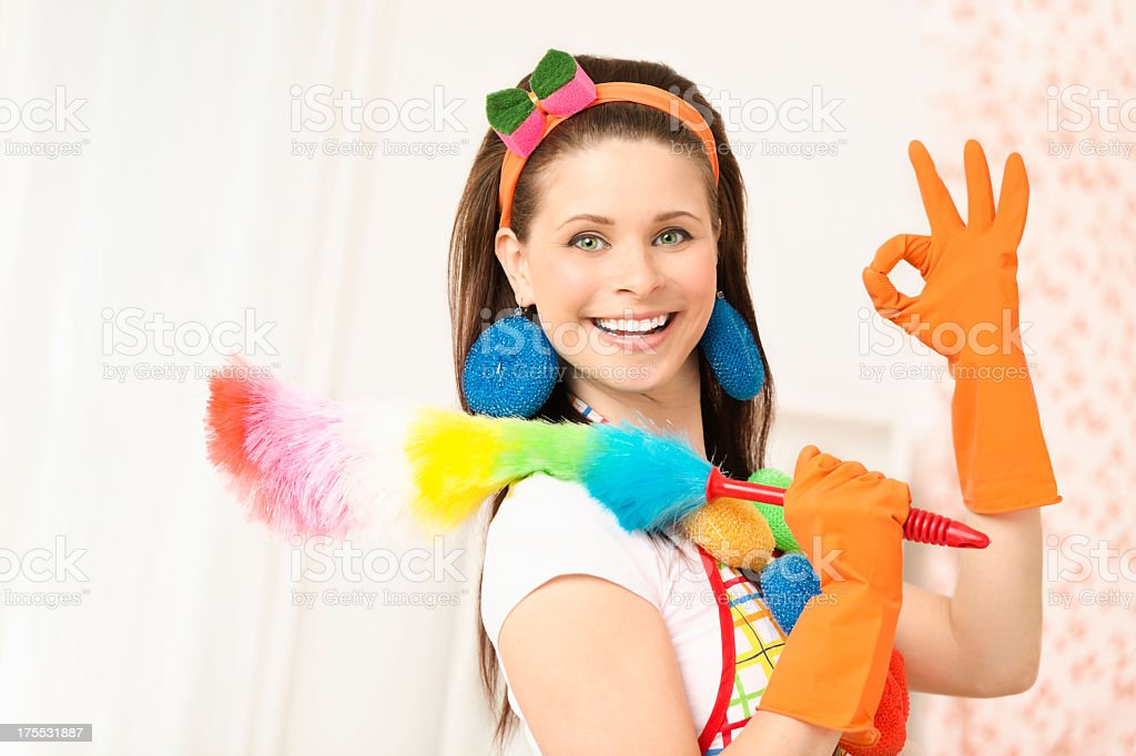 Cleaning is OK royalty-free stock photo