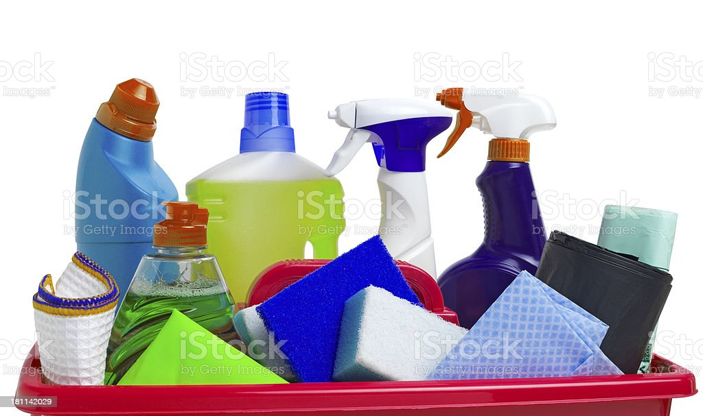 Cleaning kit stock photo