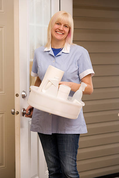 Cleaning Lady stock photo