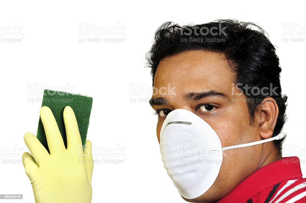 Cleaning Man royalty-free stock photo