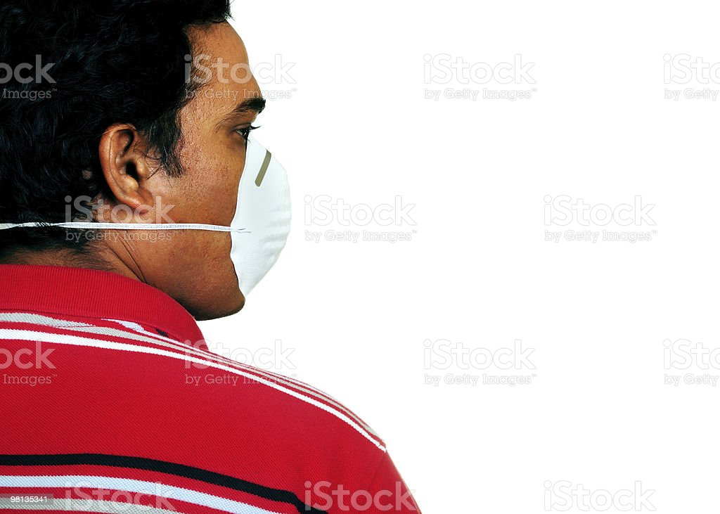 cleaning man with mask on the face royalty-free stock photo
