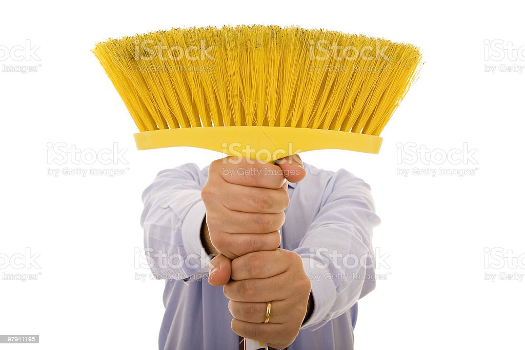 Cleaning men royalty-free stock photo