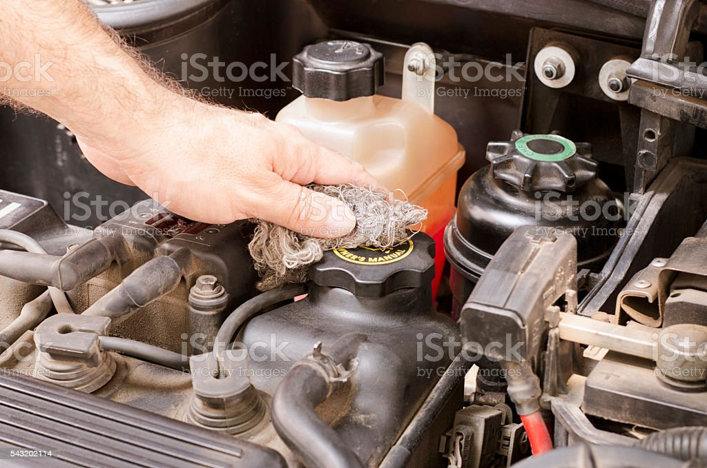 Cleaning motor stock photo