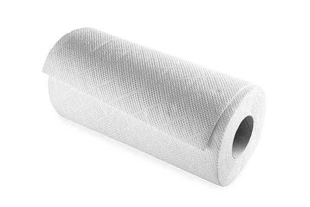 Cleaning Paper Towel Roll stock photo
