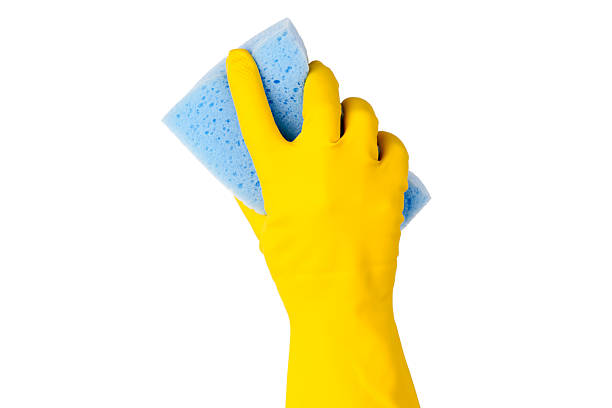 la pulizia - spugna per le pulizie foto e immagini stock