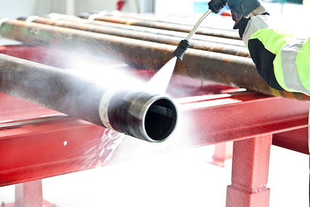 cleaning pipe - high pressure cleaning stock photos and pictures