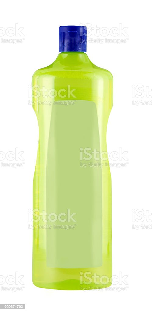 Cleaning product bottle with clipping path zbiór zdjęć royalty-free