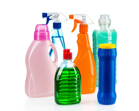 istock Cleaning product plastic container for house clean 478482319