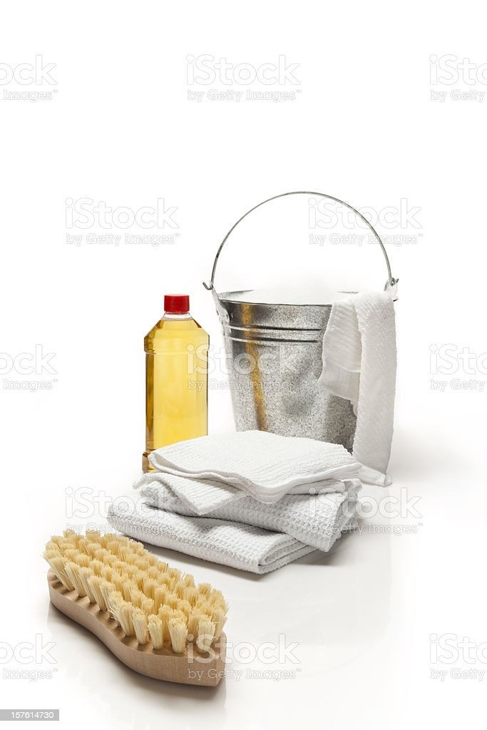 Cleaning products and objects stock photo